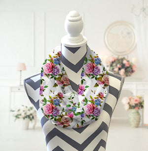Floral Infinity Scarf - Potter's Printing