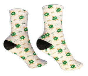 Kiss Me I'm Irish Personalized St. Patrick's Day Socks - Potter's Printing