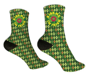 Kiss Me I'm Irish St. Patrick's Day Socks - Potter's Printing