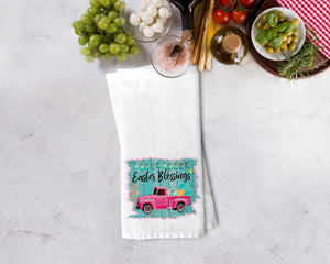 Easter Truck Blessings Kitchen Towel - Potter's Printing