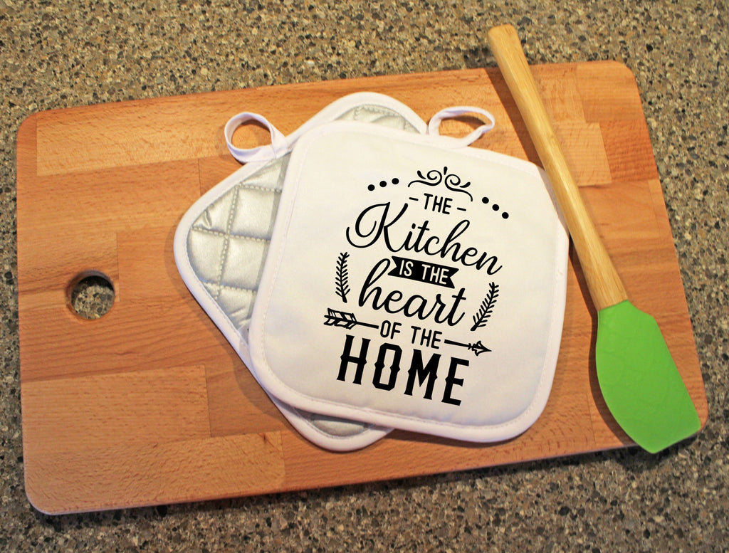 The Kitchen Is The Heart Of The Home Pot Holder - Potter's Printing