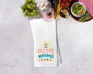 Easter Blessings Kitchen Towel - Potter's Printing