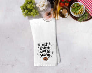 Eat Drink Be Scary Kitchen Towel - Potter's Printing