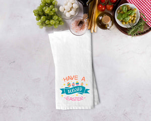 Have a Blessed Easter Kitchen Towel - Potter's Printing