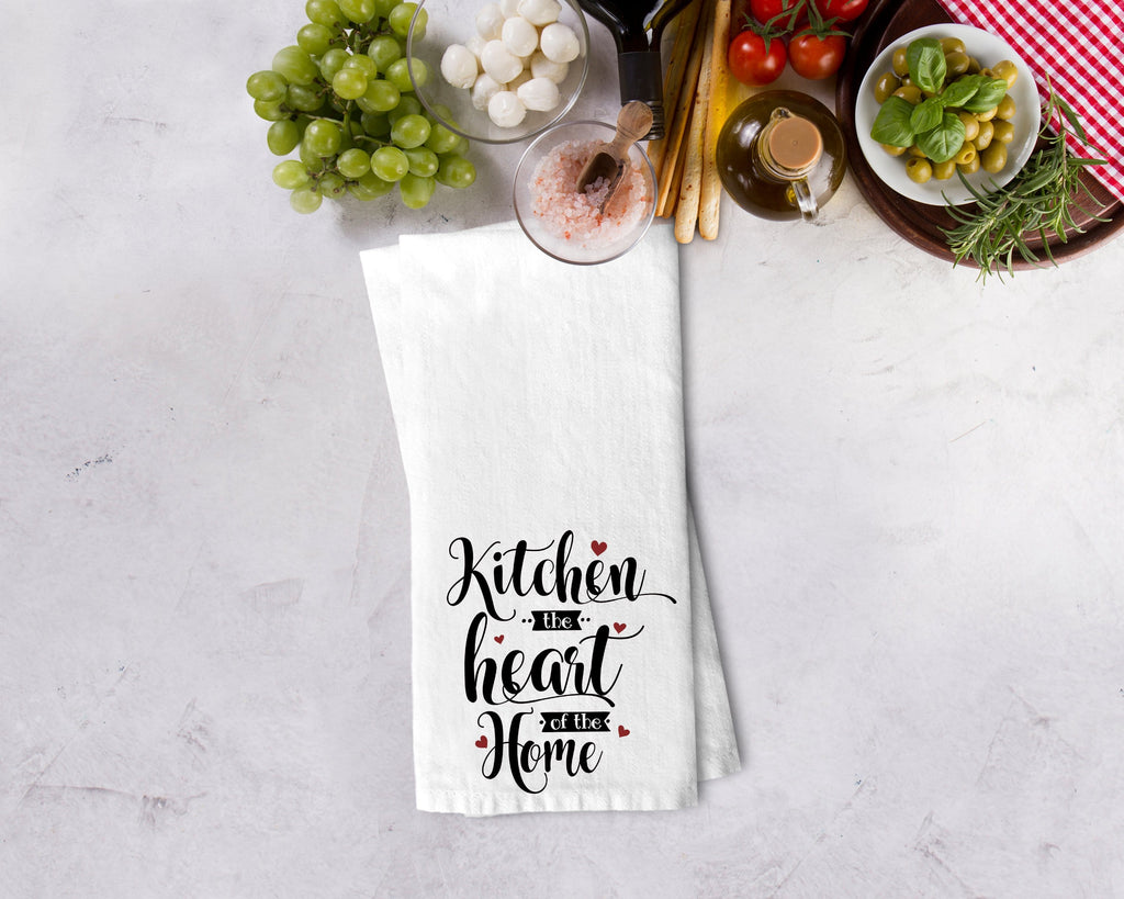 Kitchen is the Heart of the Home Kitchen Towel - Potter's Printing