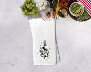 May The Fork Be With You Kitchen Towel - Potter's Printing