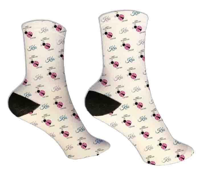 Love Bug Personalized Valentine Socks - Potter's Printing