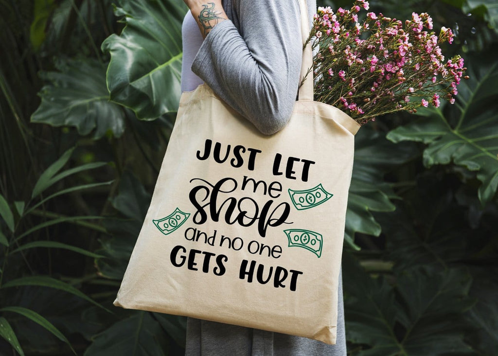 Let Me Shop Tote Bag - Potter's Printing