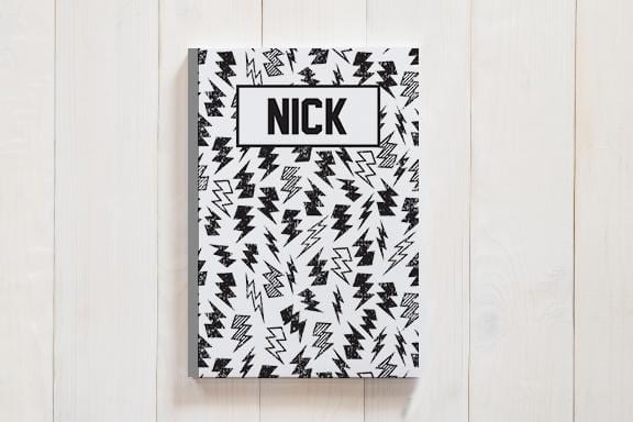 Personalized Lightning Bolt Journal
