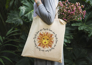 Live By The Sun Tote Bag - Potter's Printing