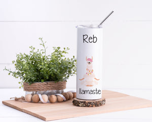 Llama Personalized Stainless Steel Tumbler