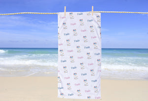 Llama Personalized Beach Towel - Potter's Printing