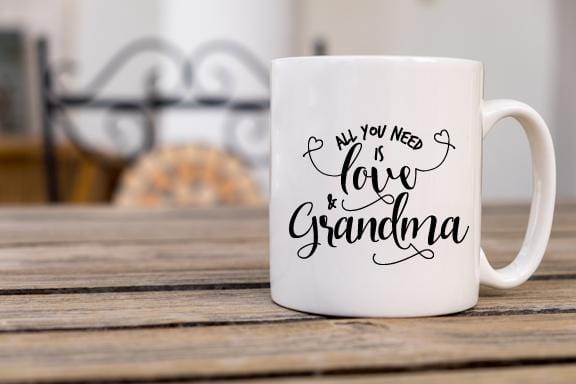 All You Need is Love & Grandma Coffee Mug - Potter's Printing