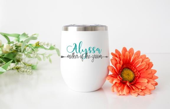 Mother of the Groom Personalized Wine Tumbler - Potter's Printing