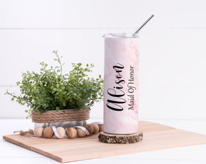 Maid Of Honor Personalized Stainless Steel Tumbler - Potter's Printing
