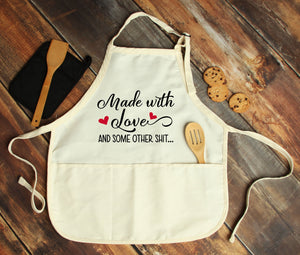 Made With Love Personalized Apron - Potter's Printing