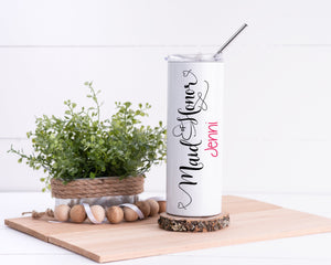 Maid of Honor Personalized Stainless Steel Tumbler