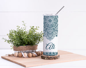 Mandala Personalized Stainless Steel Tumbler