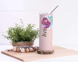 Mermaid Personalized Stainless Steel Tumbler - Potter's Printing