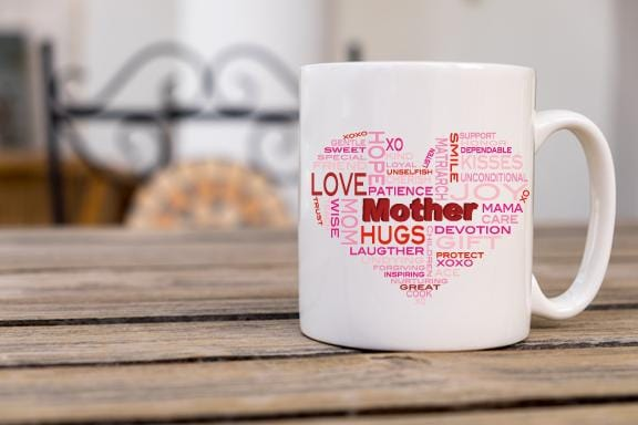 Quality's Of A Mother Coffee Mug - Potter's Printing