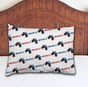 Monster Truck Personalized Pillowcase - Potter's Printing