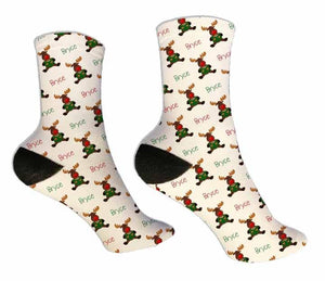 Moose Personalized Christmas Socks - Potter's Printing