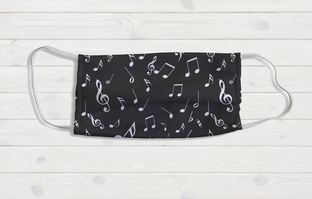 Music Notes Face Mask - Potter's Printing