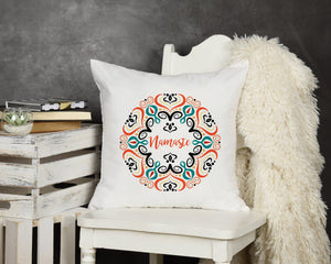 Namaste Throw Pillow - Potter's Printing