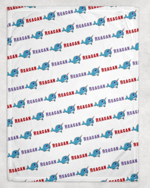 Narwhal Personalized Blanket - Potter's Printing