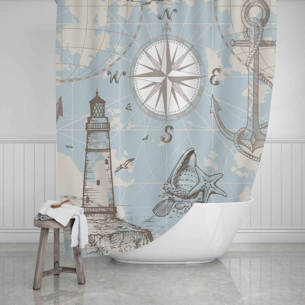 Nautical Shower Curtain - Potter's Printing