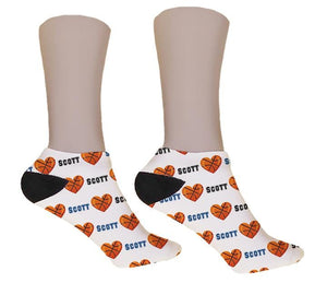 Basketball Personalized Valentine Socks - Potter's Printing