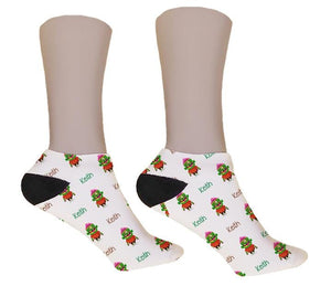 Cute Zombie Personalized Halloween Socks - Potter's Printing