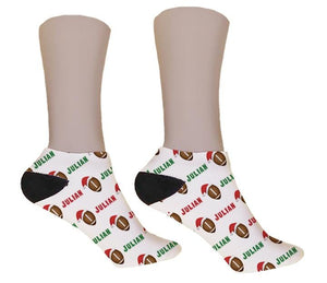Football Personalized Christmas Socks - Potter's Printing
