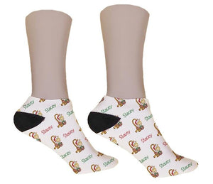 Giraffe Personalized Christmas Socks - Potter's Printing