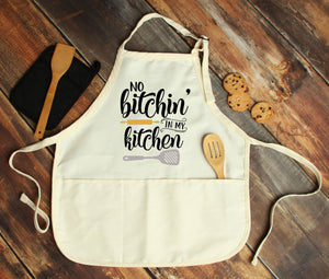 No Bitchin in My Kitchen Personalized Apron - Potter's Printing