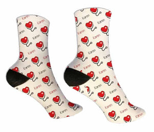 Nurse Personalized Socks - Potter's Printing
