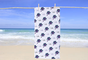 Owl Personalized Beach Towel - Potter's Printing