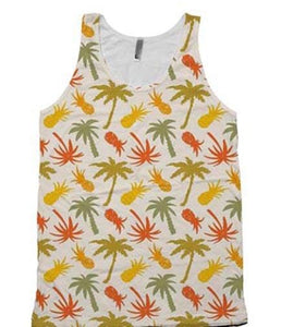 Pineapple and Palm Trees Tank Top - Potter's Printing