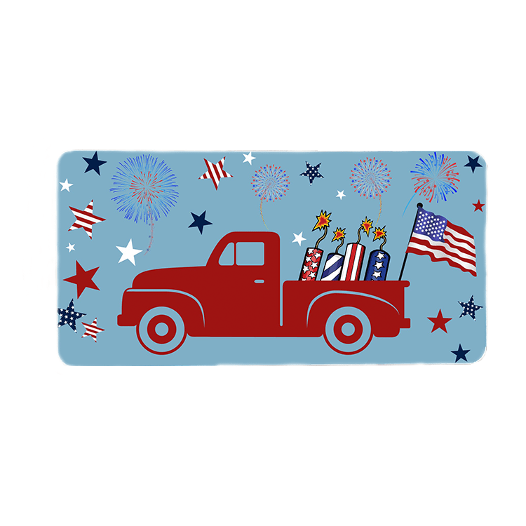 Patriotic Truck Wreath Sign
