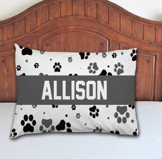 Paw Prints Personalized Pillowcase - Potter's Printing
