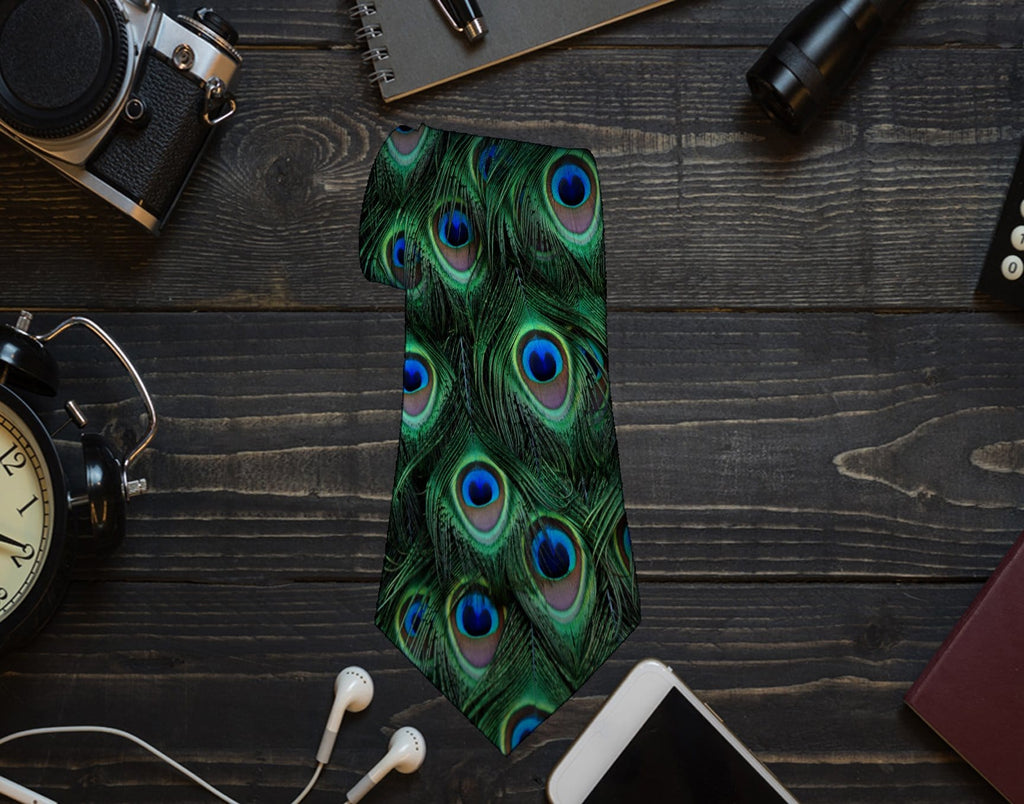 Peacock Neck Tie - Potter's Printing