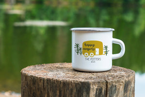 Personalized Happy Campers Camping Mug