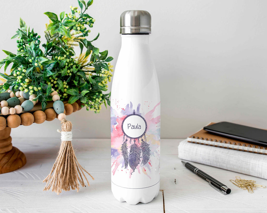 Personalized Dreamcatcher Stainless Steel Water Bottle
