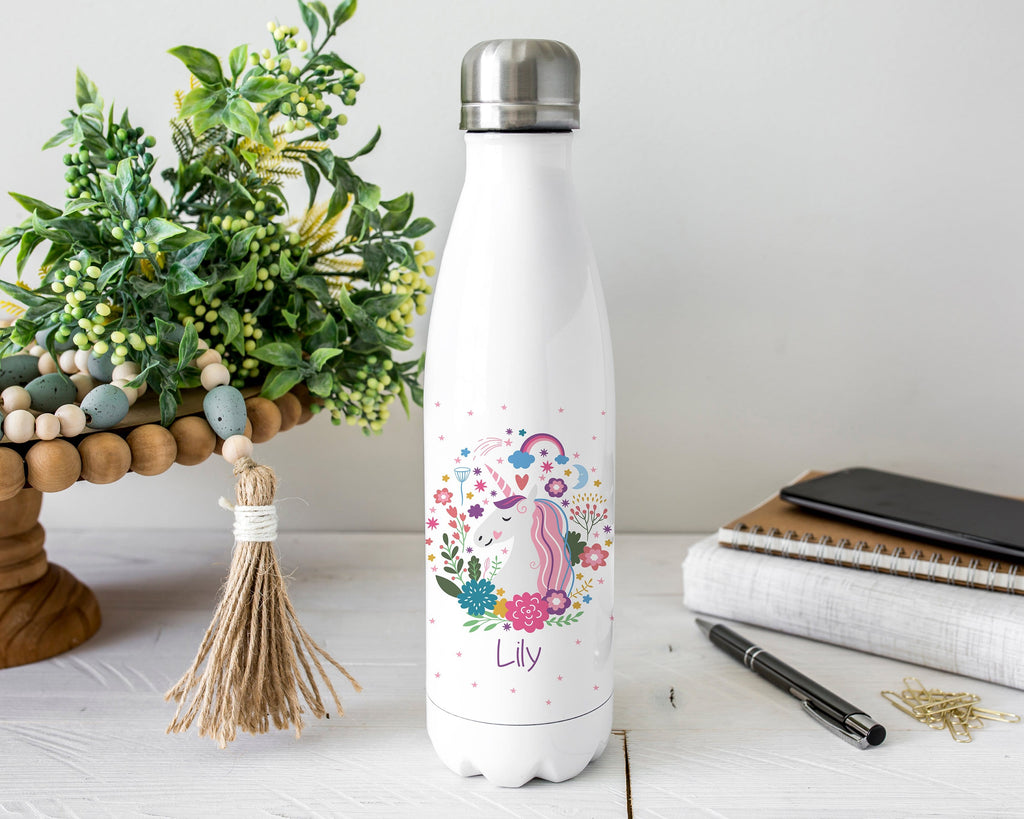 Personalized Unicorn Stainless Steel Water Bottle