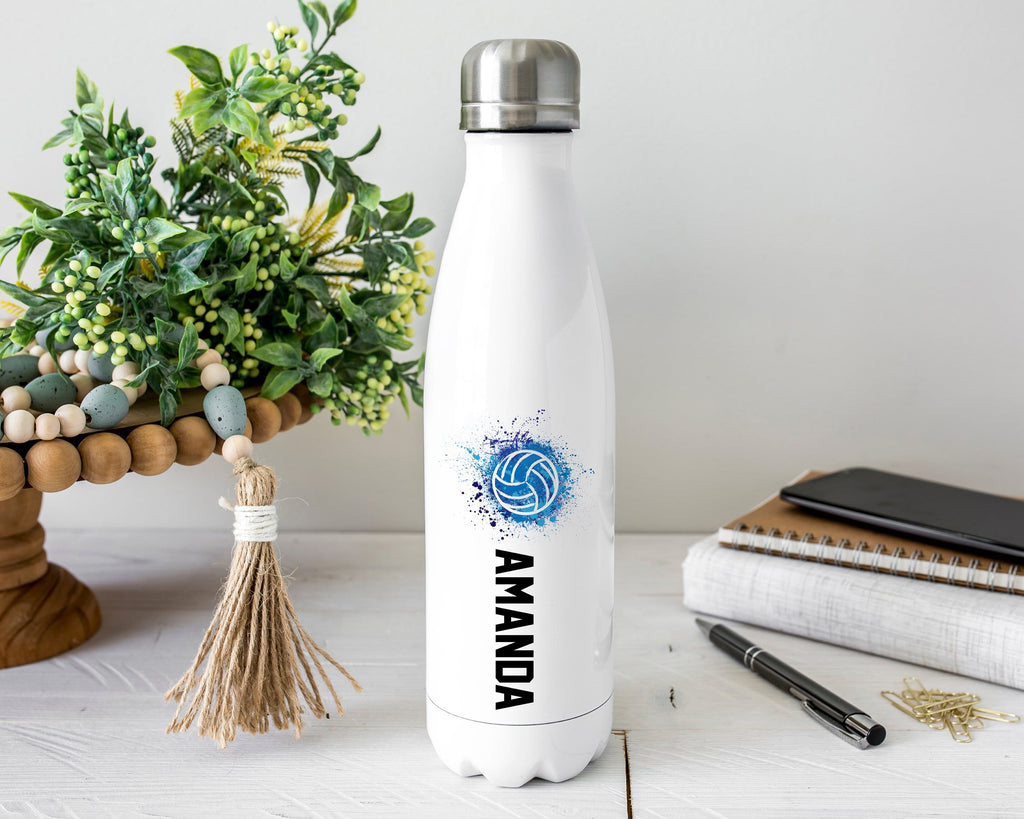 Personalized Volleyball Stainless Steel Water Bottle