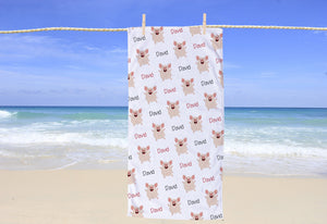 Pig Personalized Beach Towel - Potter's Printing