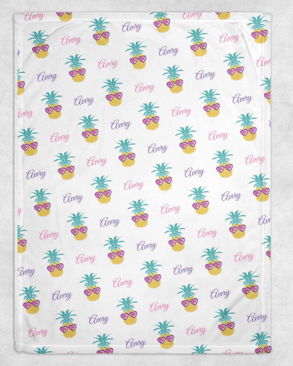 Pineapple Personalized Blanket