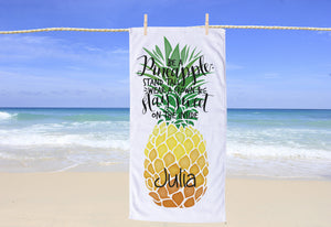 Pineapple Personalized Beach Towel - Potter's Printing