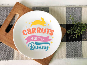 Carrots for the Bunny Ceramic Plate - Potter's Printing