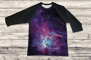 Galaxy 3/4 Sleeve Raglan Shirt - Potter's Printing